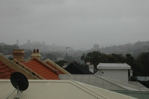 Aussicht - leider nur Regen