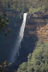 Fitzroy Falls - wie man sieht, ist es windig