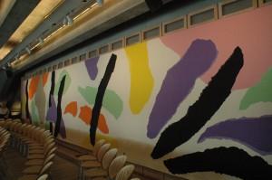 Wandteppich im Utzon-Raum
