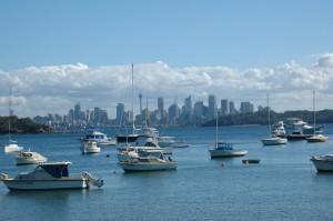 Blick über Wantson's Bay zur City