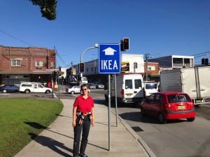 Auf dem Weg zu Ikea