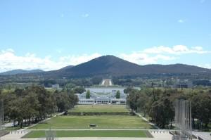 Blick vom Dach des Parlamentsgebäudes