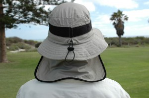 Hut von hinten