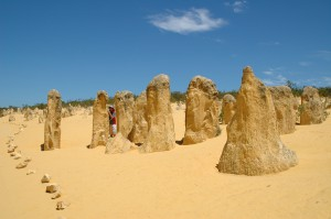 Pinnacles im Sand