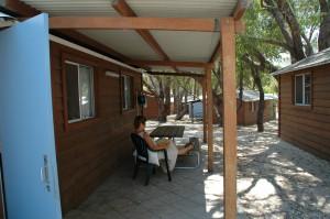 Unsere Cabin mit Terasse
