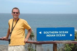 Südozean links, Indischer Ozean rechts