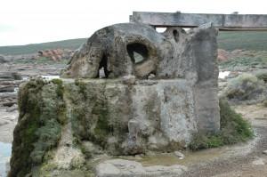 Versteinertes Wasserrad