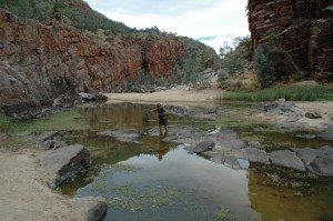 Flussquerung in der Ormiston Gorge