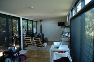 Unser Studio mit Kaminofen