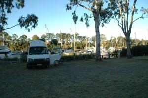 Camping in der Marina