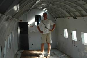 In einer alten DC3 von Quantas
