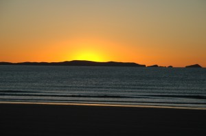Sonnenaufgang in Yeppoon am Strand