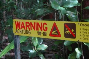 Achtung: hier oben immer schön an die Krokodile denken!