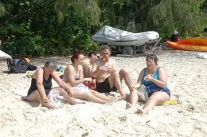 Am Bade- und Schnorchelstrand von Green Island